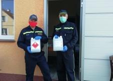 Výdej dezinfekce - 29.3.2020
